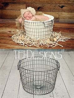 IN STOCK - Vintage Style Round Egg Basket - Photography Photographer Prop - NEW - Limited Suppl, $42.00 by TFJ Designs
