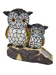 Mother and Baby Owl Solar Light