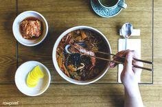 Korean noodle soup   free image by rawpixel.com / Jakub Kapusnak
