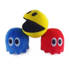3pcs /set 15CM Plush Toy- Deluxe Small Ghost And Pac Man #pacman #oldschool