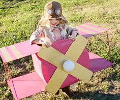 For future reference.  Airplane costume, not just for boys! :)