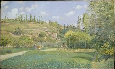 gallery 820 Camille Pissarro | A Cowherd at Valhermeil, Auvers-sur-Oise 1874| The Met