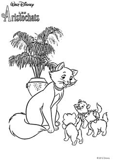 duchess and kittens coloring page disneys aristocats - Aristocats Duchess Coloring Pages