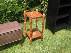 Solid Wood Two Tier Plant Stand