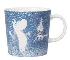 Arabia Mug 2018 Winter Light Snowfall Moomin 6411801005004 IMPORT Goods for sale online Les Moomins, Kristiansund, Moomin Mugs, Tove Jansson, Winter Light, Second Hand, Troll, Tableware, Ebay