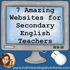 "7 Amazing Websites to Help English Teachers. ""The internet is amazing and has a wealth of resources. However, sometimes it helps to know where to look first. These are 7 of my favorite websites to use with my classes."""
