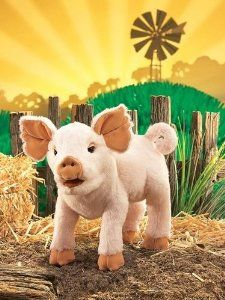 "Piglet Puppet 15"" by Folkmanis Puppets for Charlotte's Web costume"