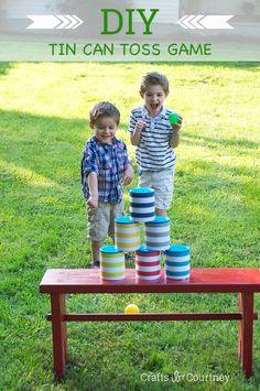 Fun DIY Can Toss Game for Kids!