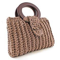 DIY Crochet Kit Zpagetti Bag Vienna Taupe | Hoooked