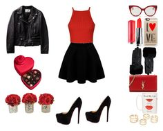 Valentines Day Style #1 by beautie-swagg on Polyvore featuring polyvore fashion style Ally Fashion Yves Saint Laurent Ted Baker Casetify Miu Miu Godiva Kate Spade Christian Louboutin clothing valentinesday
