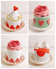 Mini Cakes by SPOON - Cakes Sweets Love, via Behance