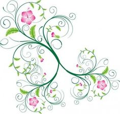 Free Swirl Floral Vector