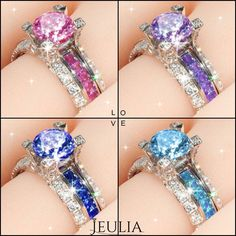 Free Shipping Bridal Set at Jeulia.com Jeulia's goal is to provide beautiful, heirloom quality jewelry at an affordable price. We have thousands of breathtaking original designs that run the gamu.