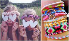 flower headbands and bracelets