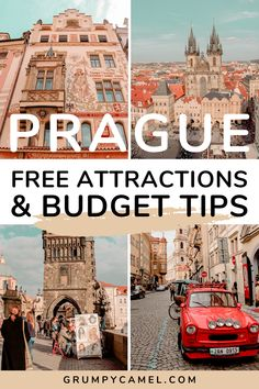 Visiting Czech Republic on a budget? If you want to visit Prague without spending a lot of money, check out this travel guide for my top budget tips and a list of free things to do in this beautiful Czech city.   #Prague #CzechRepublic #PragueTravel #Europe #EuropeTravel #Czechia #BudgetTravel Top European Destinations, European Travel Tips, Europe Travel Guide, Budget Travel, Travel Guides, Travel Destinations, Visit Prague, Prague Travel, Free Things To Do