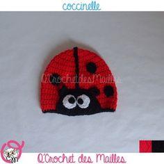 Collection Un grand marché · Bonnet coccinelle pour bébé 6-9 mois, 9-12  mois et 1- 39a77b11ad8