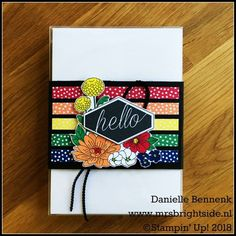 NL Stampin' Up! Demo Bloghop - In Colors 2018-2020 card set In Every Season & Accented Blooms - Mrs. Brightside - Danielle Bennenk