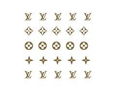 Louis Vuitton LV Nail Decals - Classic Monogram Print - Fashion Logos Nail Art - 25 Nail Designs by JackiesNailCandy on Etsy https://www.etsy.com/listing/255483295/louis-vuitton-lv-nail-decals-classic
