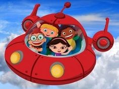 going on trip in our favorite rocket ship...