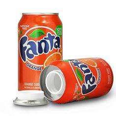 Fanta Orange Stash Blik is een opbergblik van het échte merk Coca Cola
