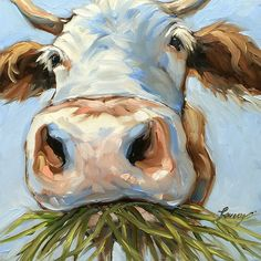 Cow Munchies Print By Andrea Lavery