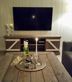 Rustic interior custom made Rustic Interiors, Custom Made, Flat Screen, Flat Screen Display, Farmhouse Interior