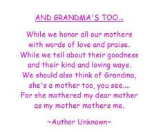 For all the beloved Grandmas who love our kids with unconditional love.