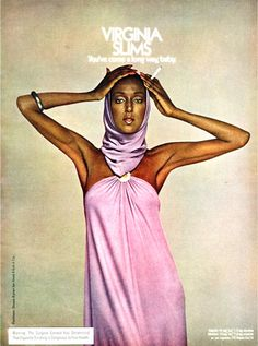 African American Fashion 1970 | Campaign: Virginia Slims Black