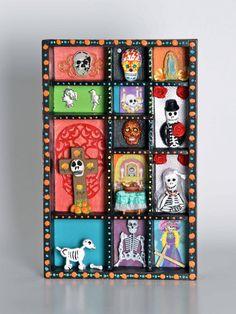 Day of the Dead/Dias de Los Muertos Shadow box by Crafty1s on Etsy, $65.00