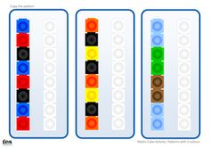 Activities based around copying simple patterns with maths cubes. All patterns included use 2 colours. Version 1 is designed to compliment Unifix cubes whi. I Love Math, Cube Pattern, Coloured Pencils, Numeracy, Lego Duplo, Repeating Patterns, 2 Colours, Teaching Resources, Compliments