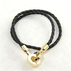 Woven Leather-Look Wrap Bracelet