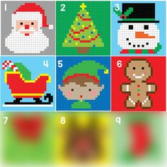 Crochet Gingerbread Man Pixel Square - Repeat Crafter Me http://www.repeatcrafterme.com/2015/09/crochet-gingerbread-man-pixel-square.html
