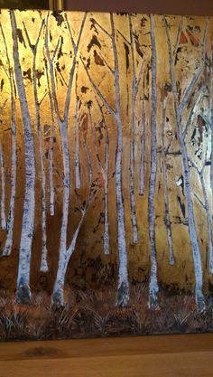 Birch trees forest Birch Trees, Tree Forest, Moose Art, Paintings, Culture, Gold, Paint, Painting Art, Painting