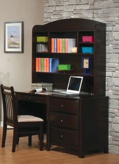 Computer Desk With Hutch Contemporary... $588.21 #topseller