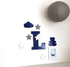Coffret de naissance initiale et décorations personnalisables - mylittledecor - grande lettre - décoration bébé : Autres bébé par mylittledecor