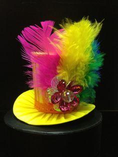 Crazy Rainbow Mini Top Hat for Dress Up Birthday by daisyleedesign, $25.95