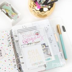 Heidi Swapp January Memory Planner Pages by Jennifer Evans