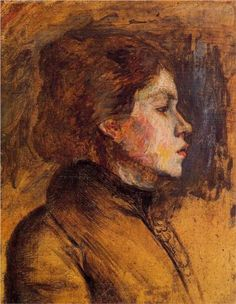 Woman s Head - Henri de Toulouse-Lautrec: : Post-Impressionism Henri De Toulouse Lautrec, Georges Seurat, Edouard Manet, Camille Pissarro, Edgar Degas, Paul Gauguin, Art Themes, Renoir, Claude Monet