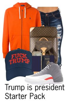"""""""Untitled #175"""" by thatgurlcandii ❤ liked on Polyvore featuring Polo Ralph Lauren, Louis Vuitton, Royce Leather and Retrò"""