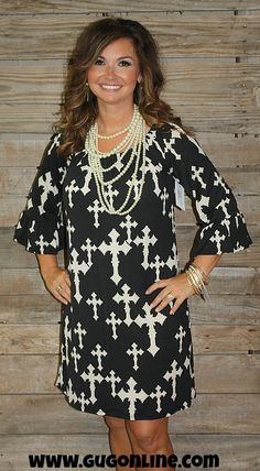 Heavenly Divine Cross Dress in Black www.gugonline.com $34.95