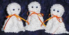 Ravelry: Tootsie pop glow-in-the-dark Ghosts pattern by Cindy Carlson