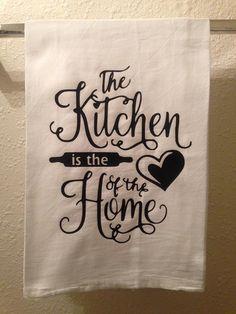Küchentuch  die Küche ist das Herz der Heimat  Funny Home