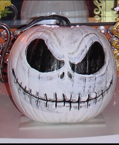 I already did a Jack Skellington pumpkin a couple of years ago, but this is too cool!