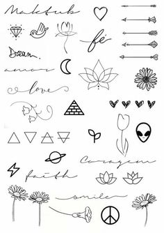 Cute little doodle drawing ideas for bullet journal cute tattoos, body art tattoos, easy Mini Tattoos, Little Tattoos, Cute Tattoos, Body Art Tattoos, Tatoos, Awesome Tattoos, Doodle Tattoo, Doodle Drawings, Easy Drawings