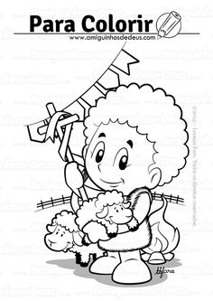 são joão desenho para colorir Art Activities, Snoopy, Rock, Fictional Characters, Junho, Saints, Kids Corner, Painting Activities, Cow Painting