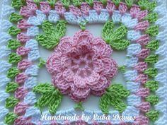 Instant Download Crochet PDF pattern Flower by LubaDaviesAtelier Baby Afghan Crochet Patterns, Crochet Squares, Crochet Granny, Pattern Floral, Flower Patterns, Flower Granny Square, Crochet Cushions, Newborn Crochet, Yarn Crafts