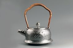 Chinese  Silver Beast Kettle