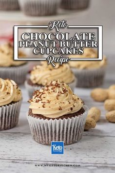 You'll love this gluten free Keto Chocolate Peanut Butter Cupcakes recipe. They're as delicious as normal cakes and baked goods and much more healthier with no sugar in any of our snacks lunch or dinner meals. Enjoy these sugar free, low carb cakes as a quick snack or decadent dessert.