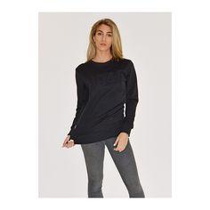 Black Embossed Sweater