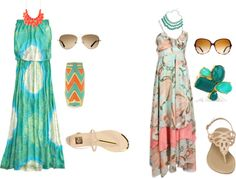 maxi dress, created by maecee on Polyvore